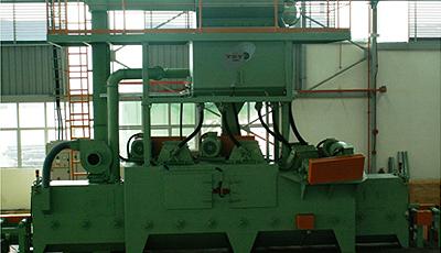 Проходной тип Дробеметной установки для наклепа пружин VZ